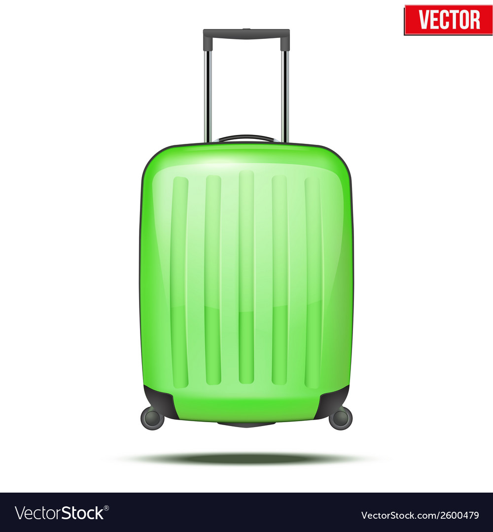 Classic plastic luggage suitcase for air or road vector | Price: 1 Credit (USD $1)