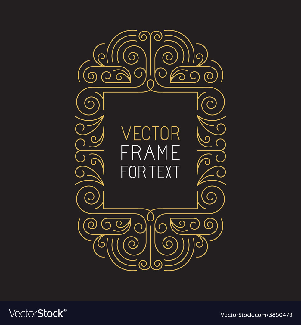 Geometric frame with copy space vector | Price: 1 Credit (USD $1)