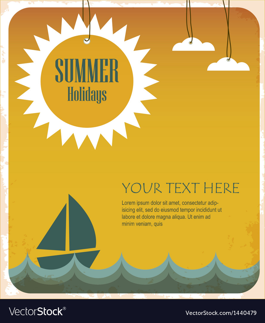 Summer holidays vector | Price: 1 Credit (USD $1)