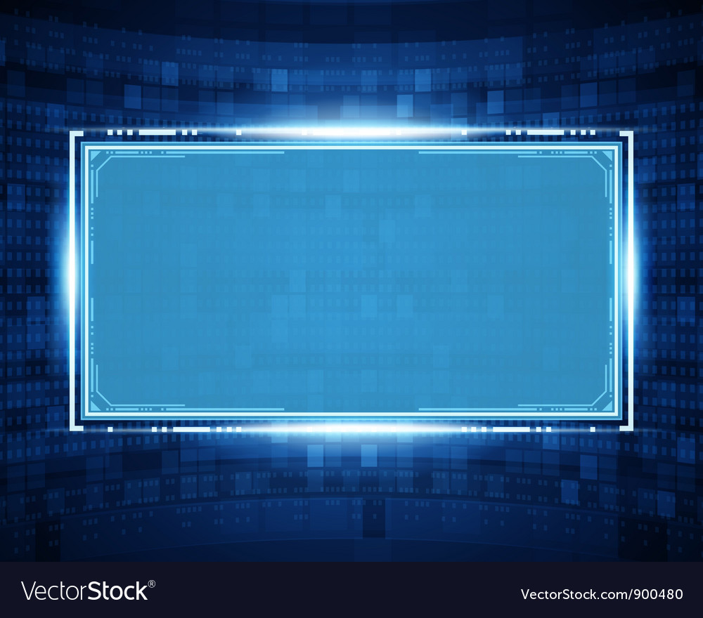 Abstract virtual space with screen vector   Price: 1 Credit (USD $1)