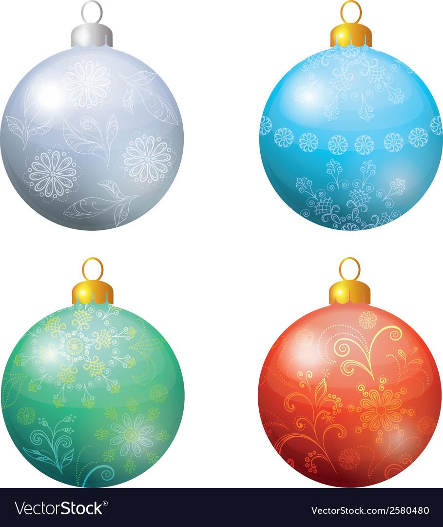 Christmas decoration set balls vector | Price: 1 Credit (USD $1)
