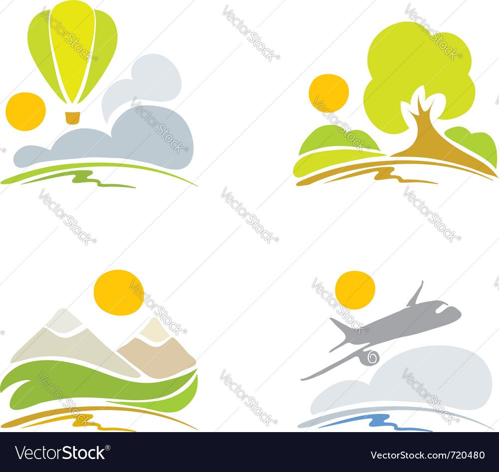 Collection signs - nature and sky vector | Price: 1 Credit (USD $1)