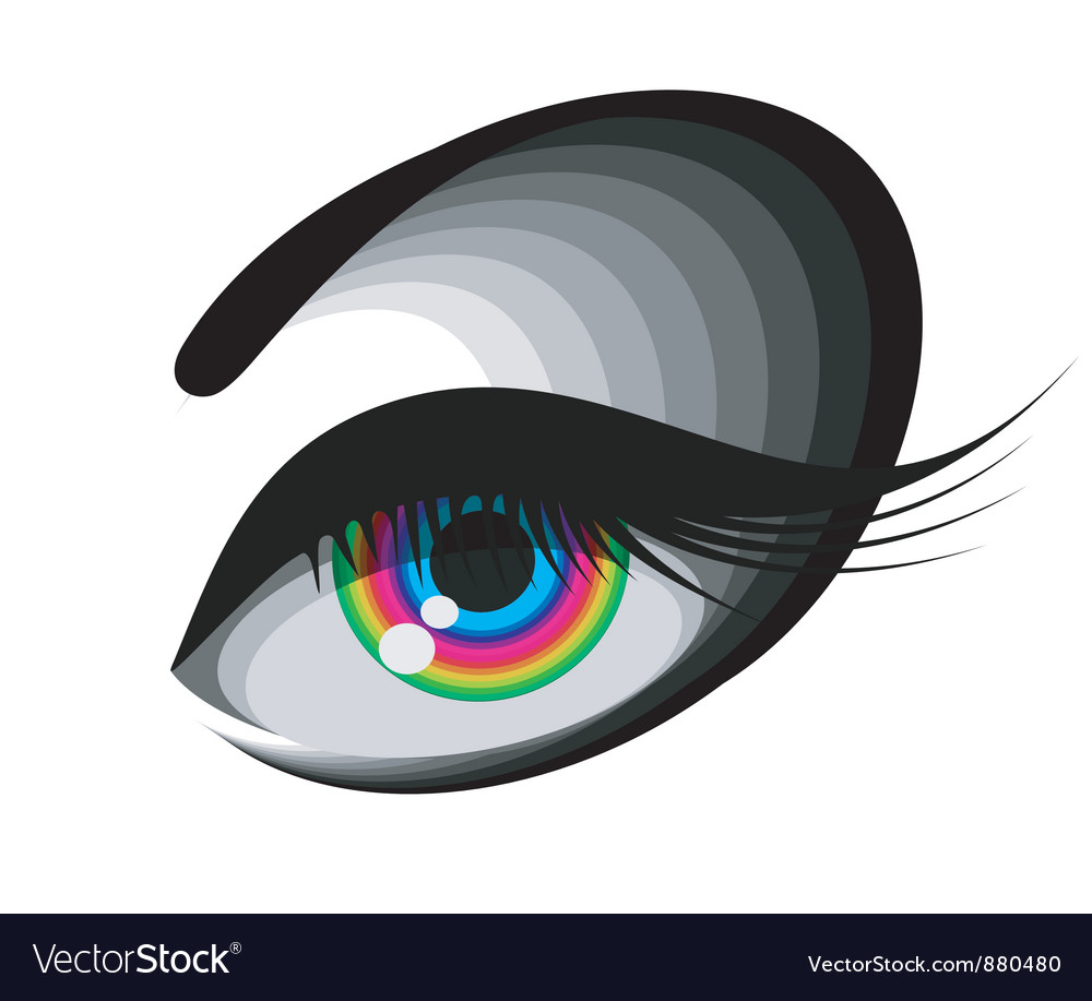 Coloured eye vector | Price: 1 Credit (USD $1)
