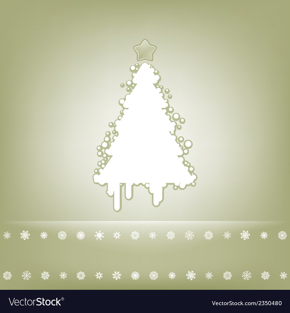 Elegant card with christmas tree eps 8 vector | Price: 1 Credit (USD $1)