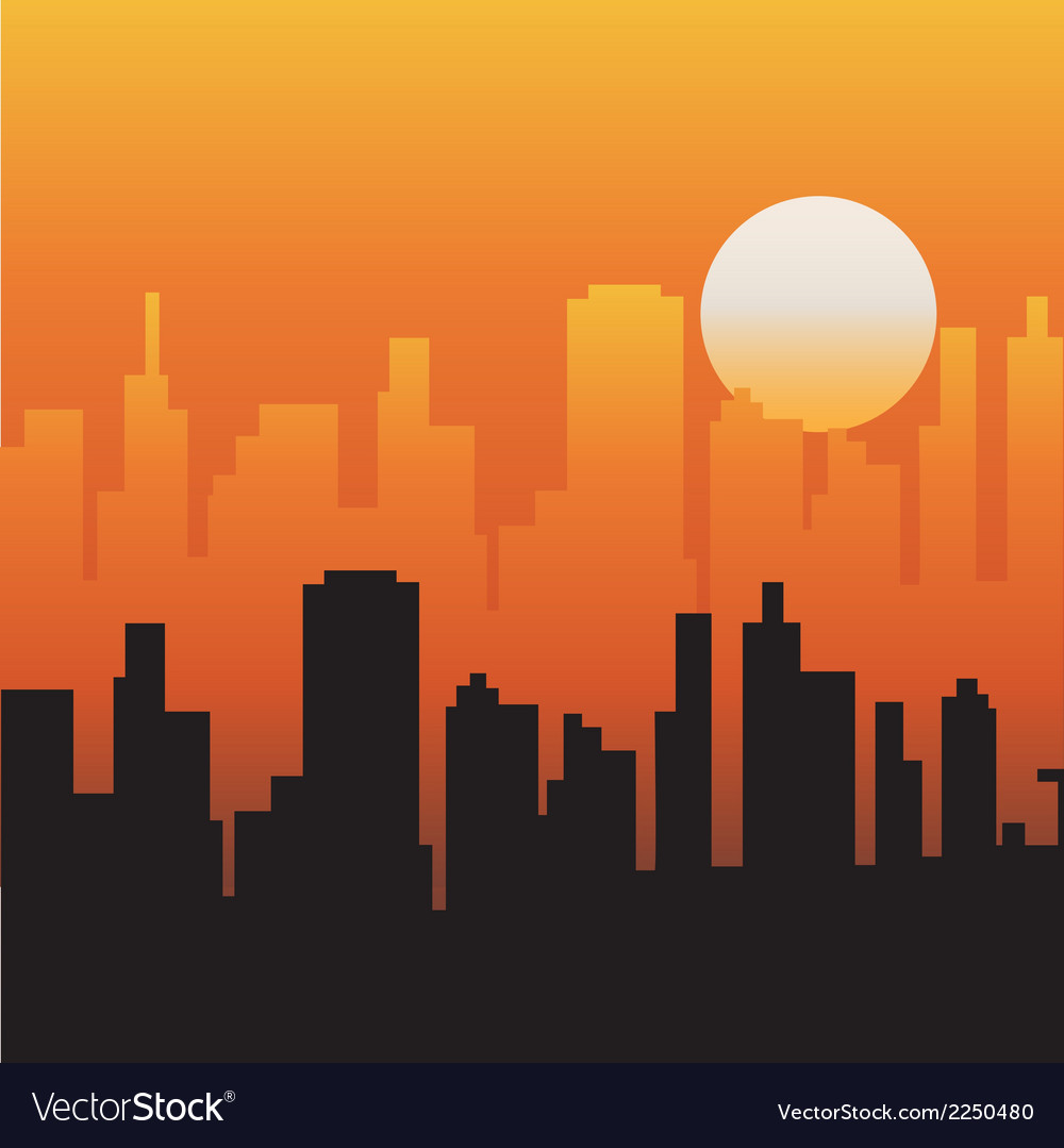 Evening sky vector | Price: 1 Credit (USD $1)