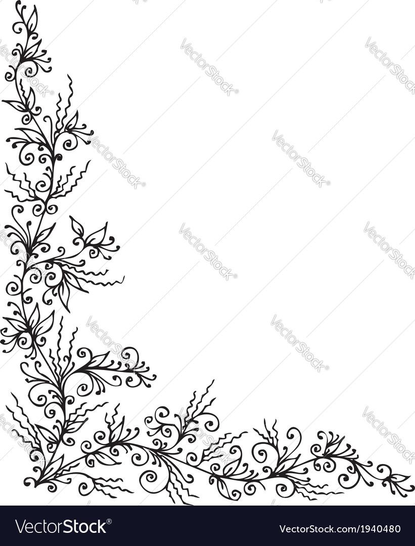 Floral vignette ccclxxxiv vector | Price: 1 Credit (USD $1)