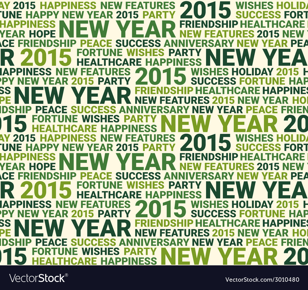 Happy new year seamless pattern vector   Price: 1 Credit (USD $1)