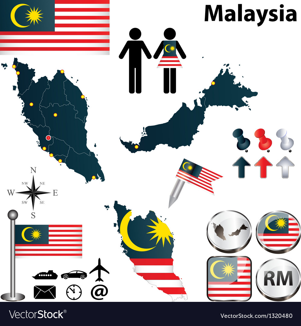 Map of malaysia vector   Price: 1 Credit (USD $1)