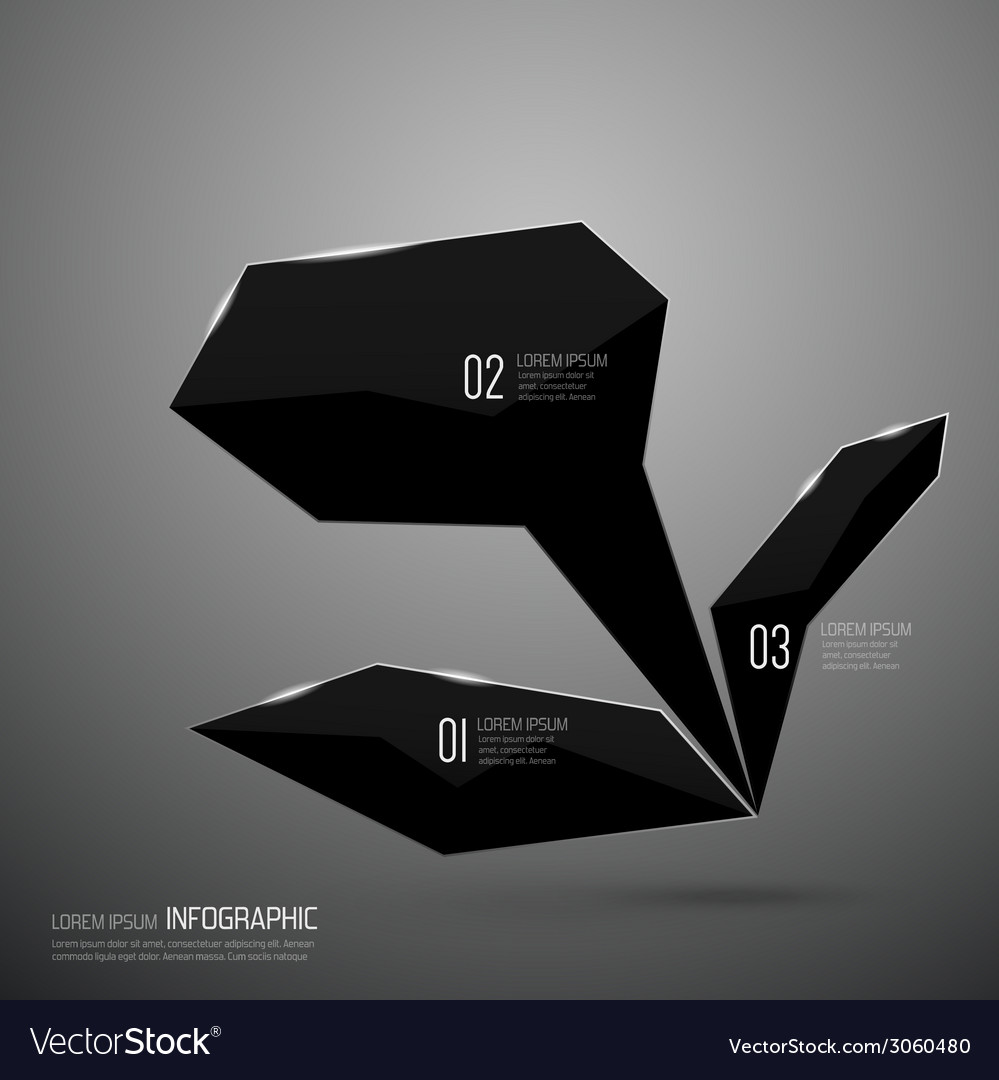 Modern design of shining crystals triangular shape vector | Price: 1 Credit (USD $1)