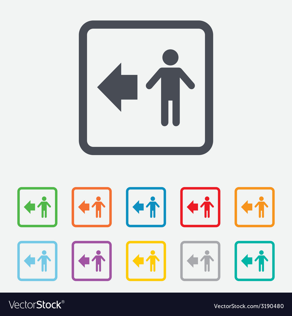 Pedestrian road icon human path vector | Price: 1 Credit (USD $1)