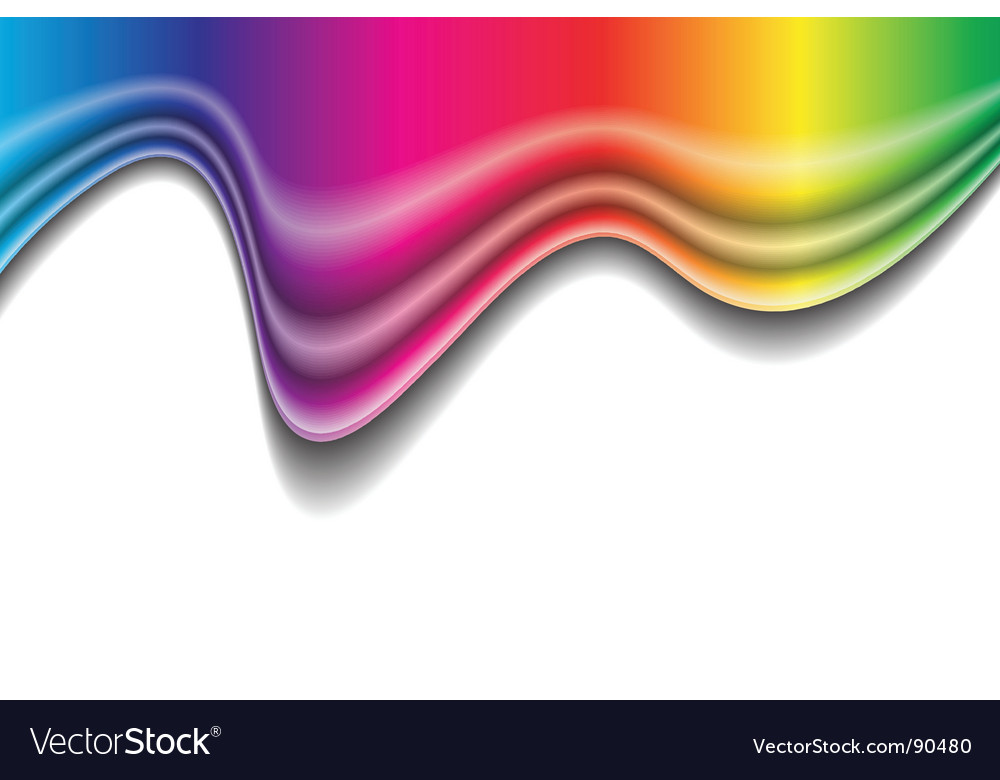 Rainbow liquid form vector | Price: 1 Credit (USD $1)