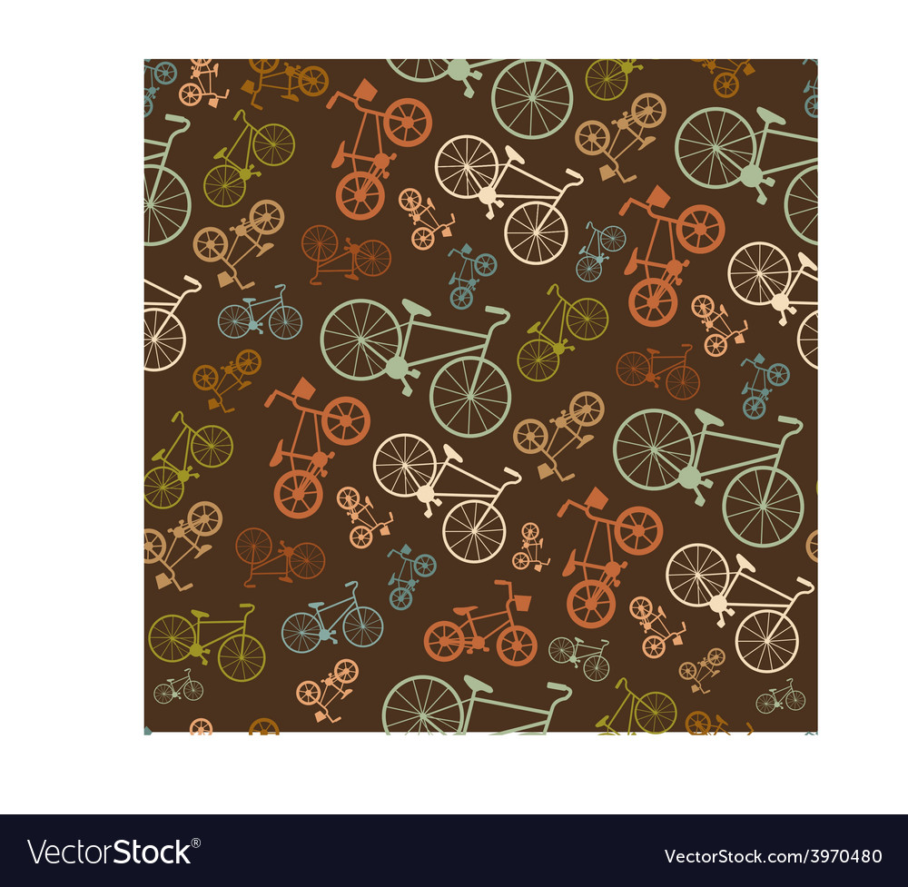 Seamless colorful retro vintage bicycle vector | Price: 1 Credit (USD $1)