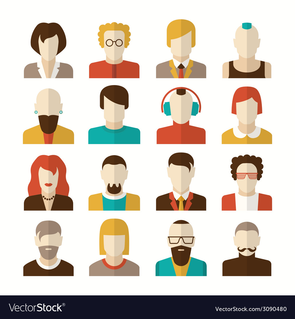 Stylized character people avatars vector | Price: 1 Credit (USD $1)