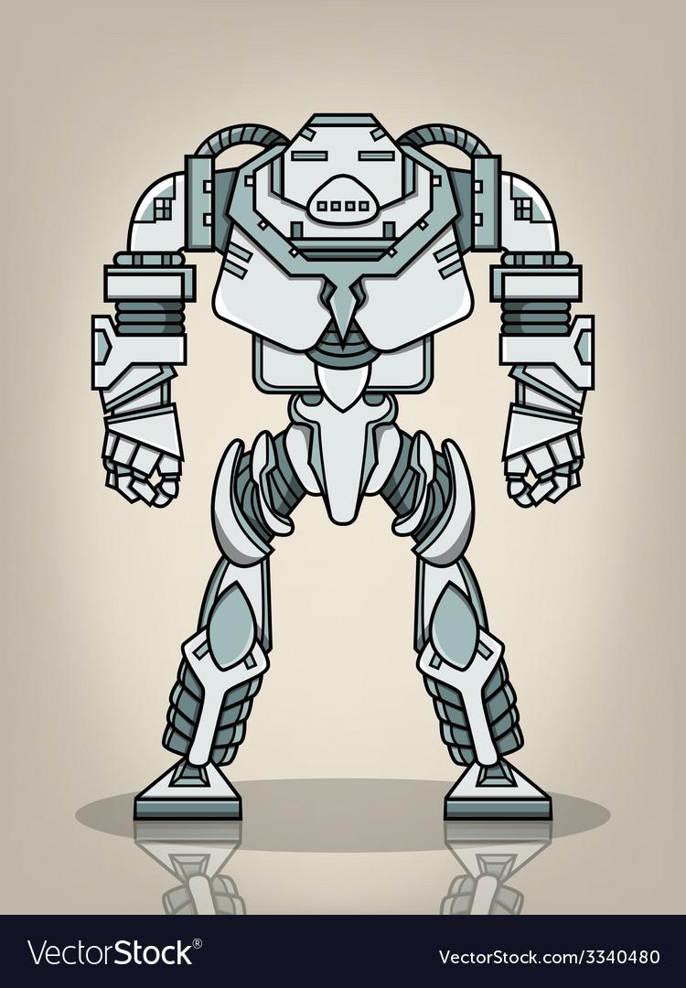 Super war robot vector | Price: 1 Credit (USD $1)
