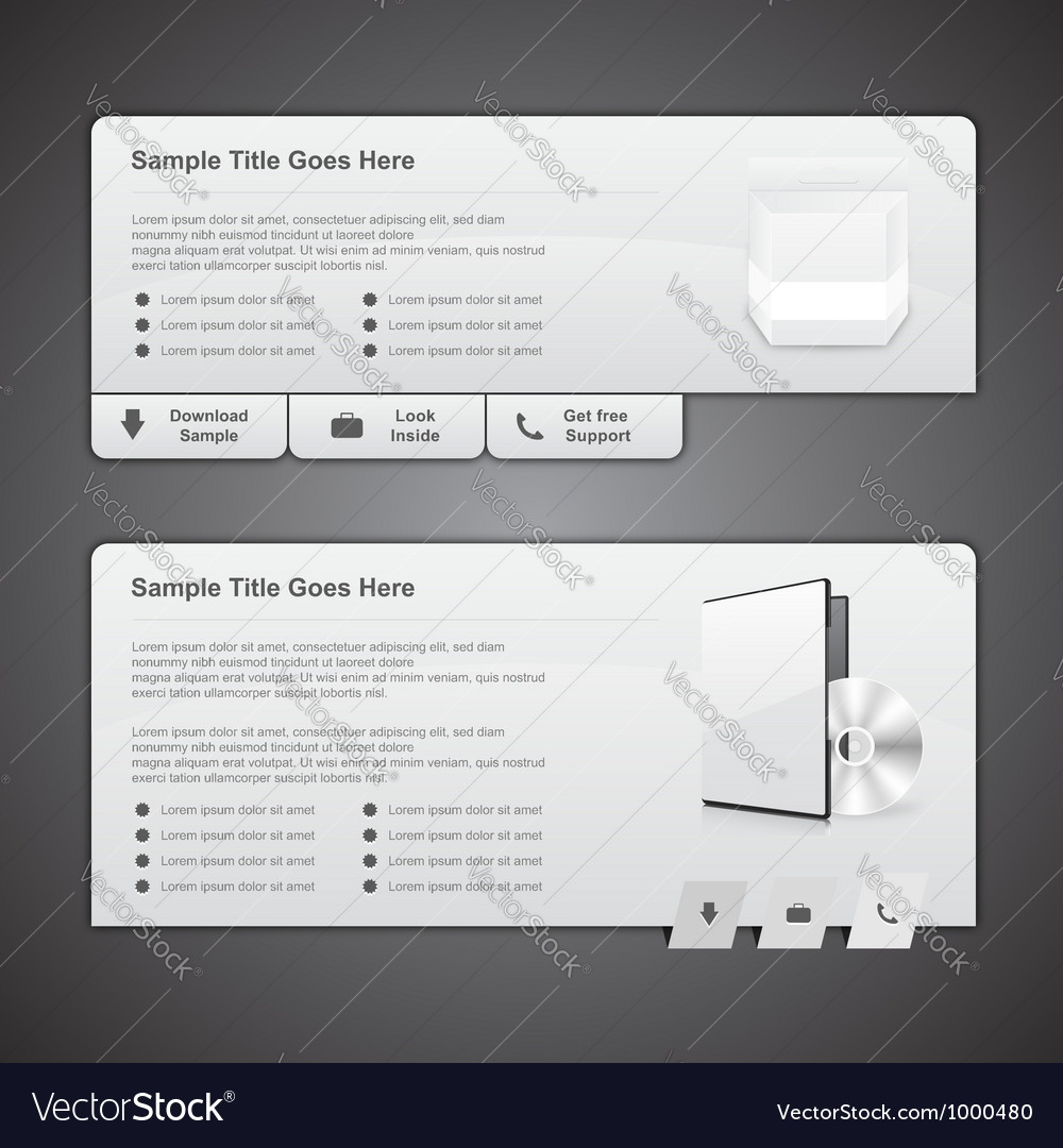 Web box templates vector | Price: 3 Credit (USD $3)