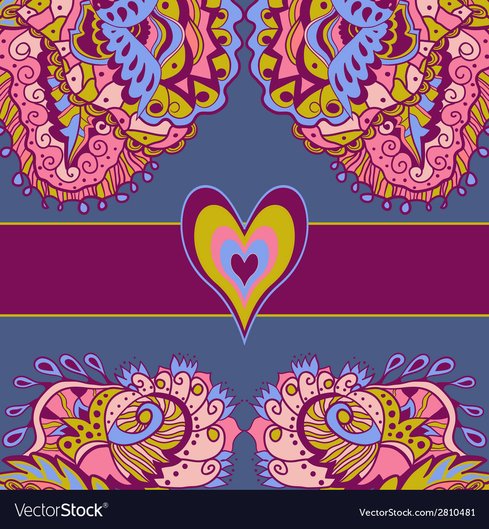 Colorful abstract love card vector | Price: 1 Credit (USD $1)