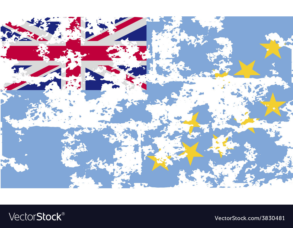 Flag of tuvalu with old texture vector | Price: 1 Credit (USD $1)