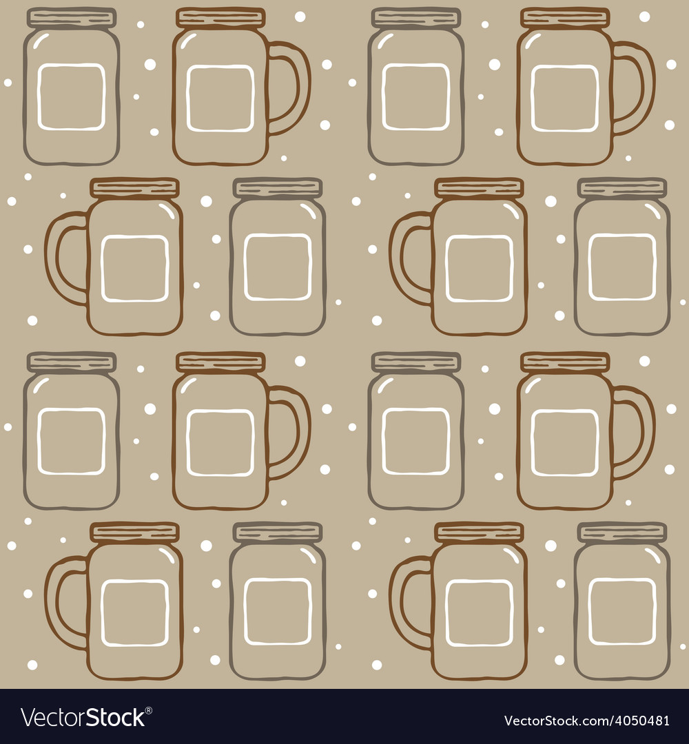 Mason jar pattern vector | Price: 1 Credit (USD $1)