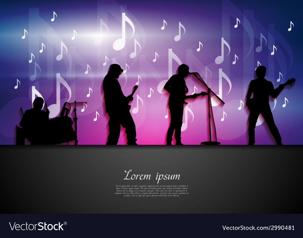 Music rock party abstract background vector | Price: 1 Credit (USD $1)