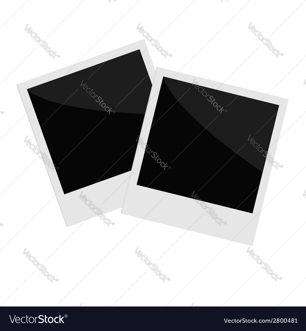 Two isolated photo in flat design style template vector | Price: 1 Credit (USD $1)