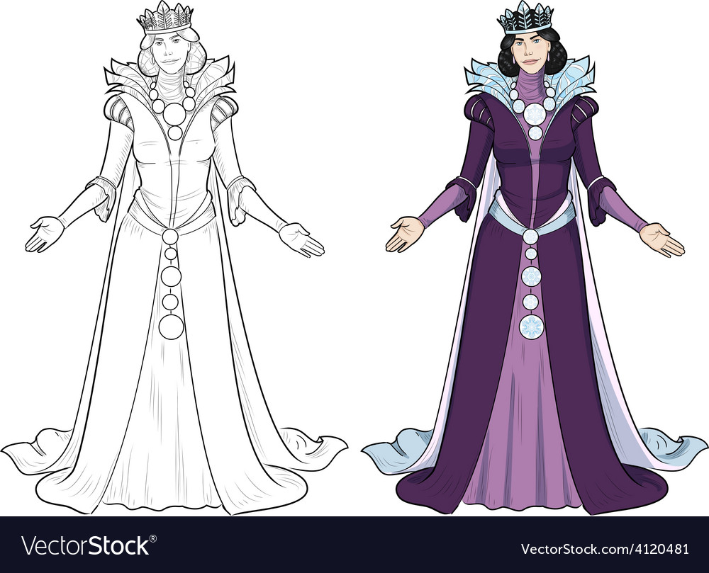 Winter queen beautiful female character vector | Price: 3 Credit (USD $3)