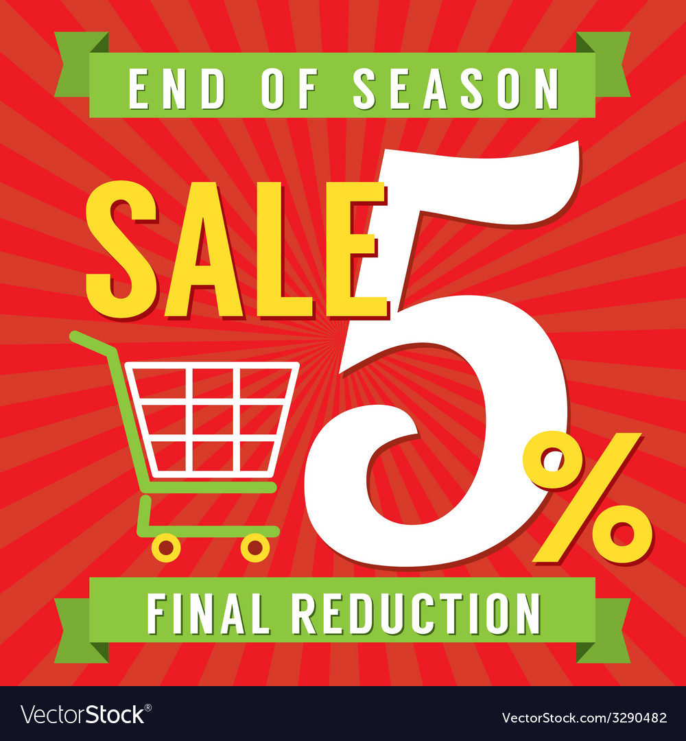 5 percent end of season sale vector | Price: 1 Credit (USD $1)