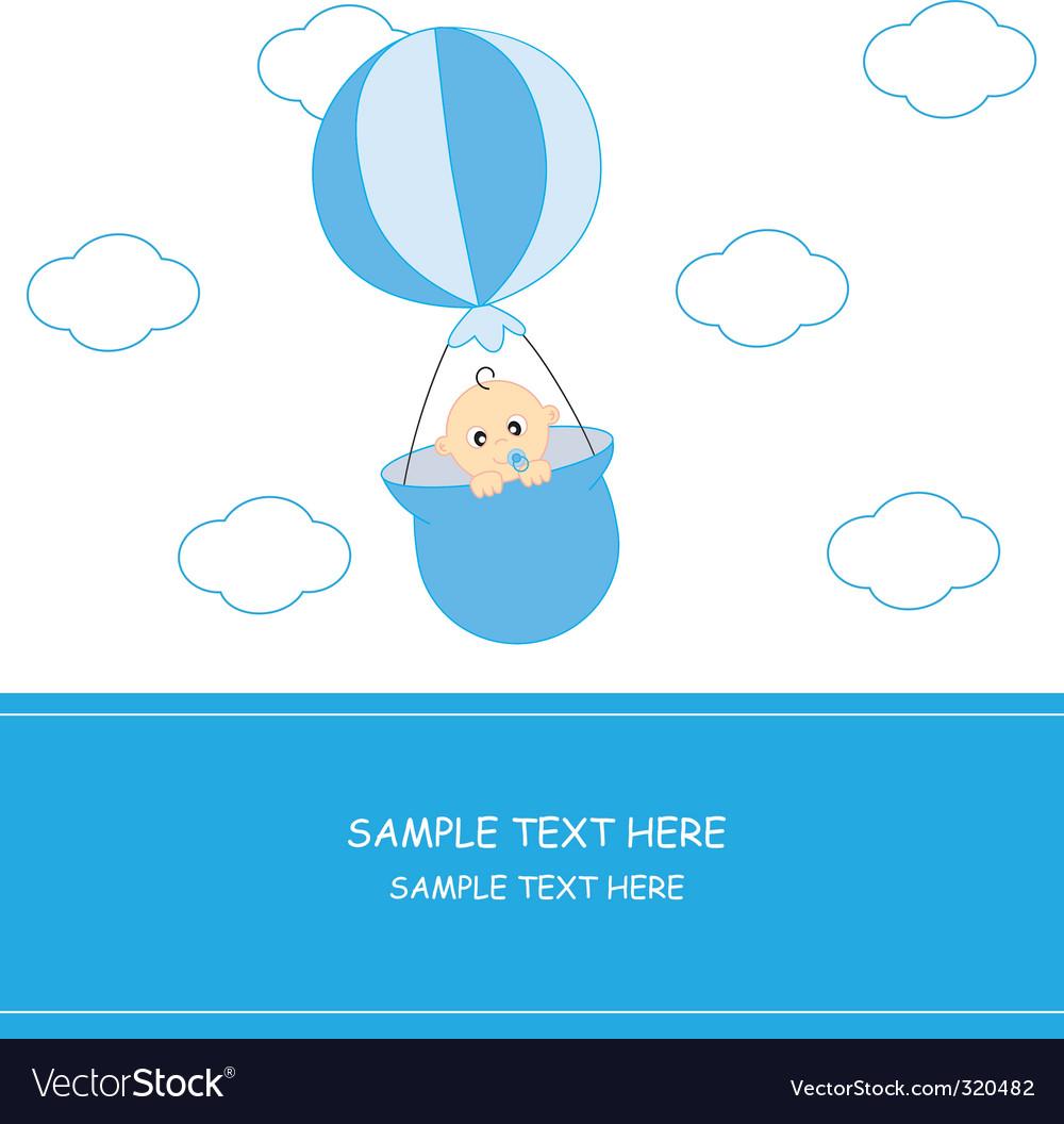Babyboyballoon vector | Price: 1 Credit (USD $1)