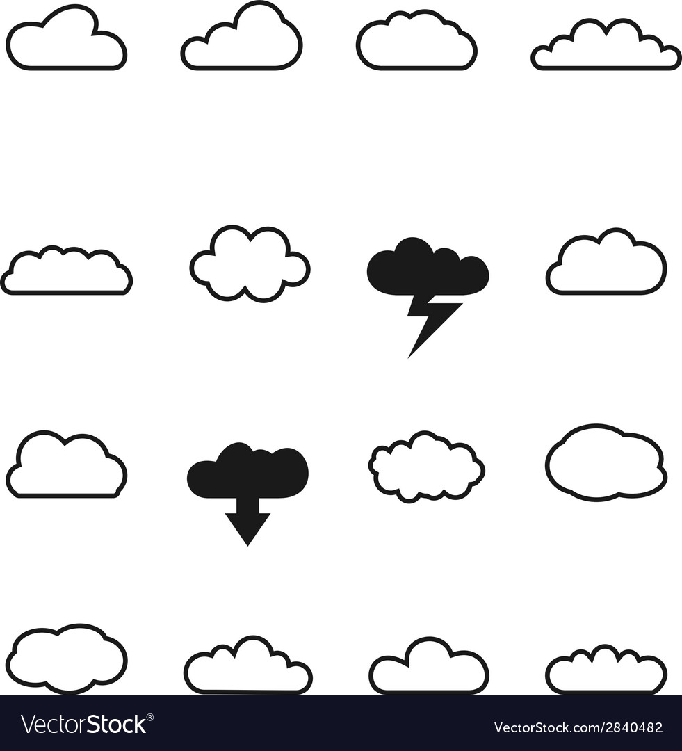 Cloud icons vector | Price: 1 Credit (USD $1)
