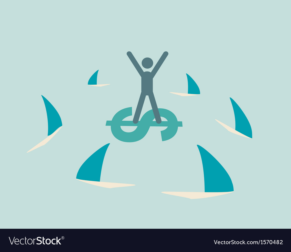 Financial risk icon vector | Price: 1 Credit (USD $1)
