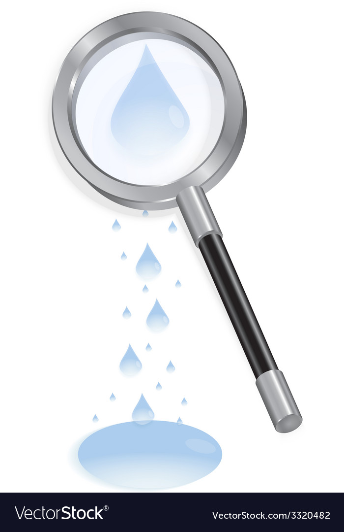 Magnifying glass with waterdrops vector | Price: 1 Credit (USD $1)