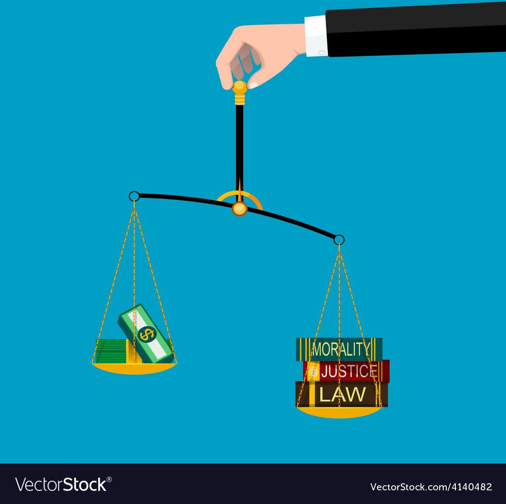Symbols of justice vector | Price: 1 Credit (USD $1)