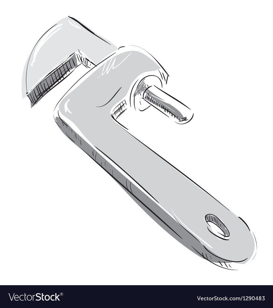 Adjustable spanner icon vector | Price: 1 Credit (USD $1)