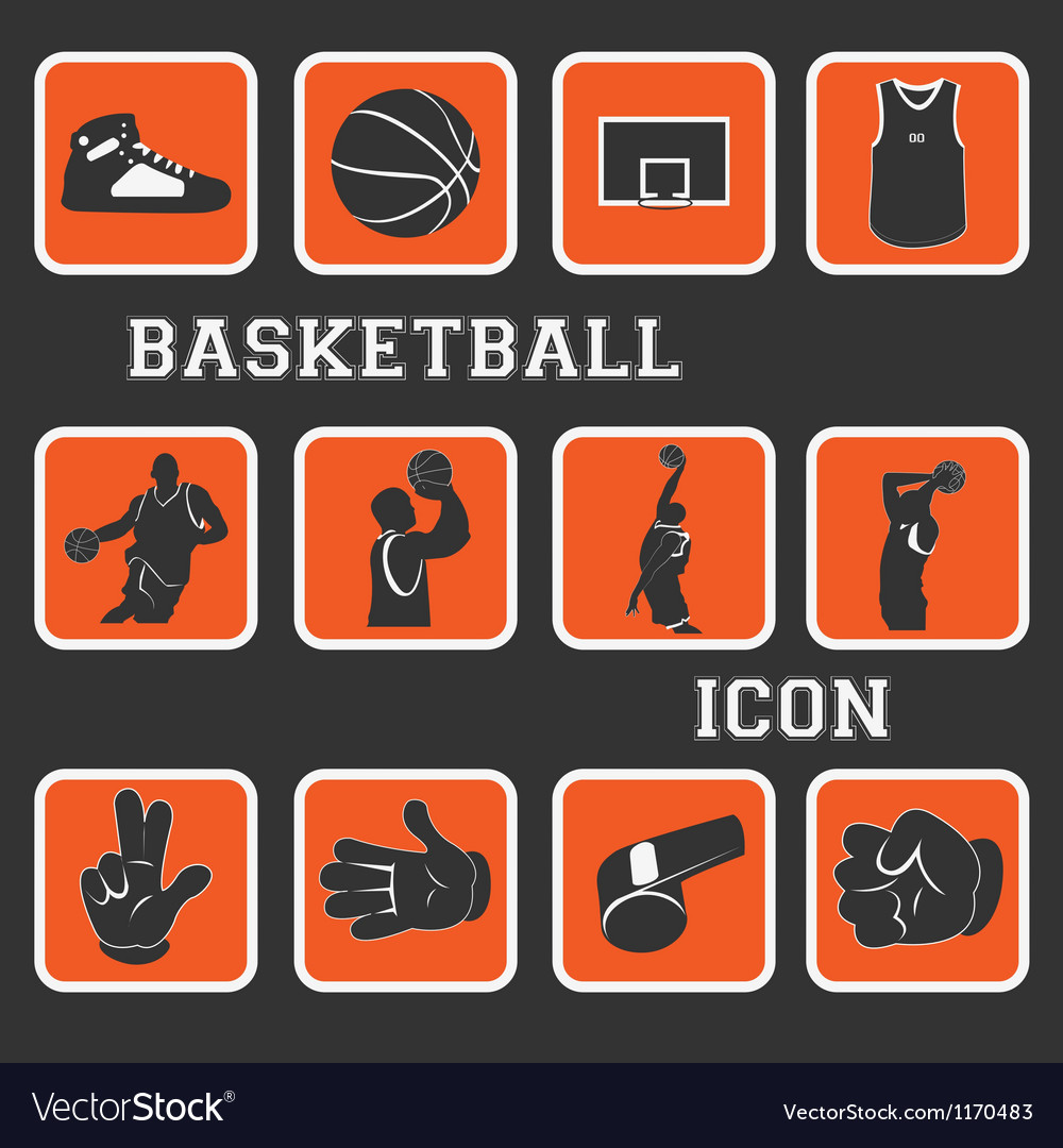 Basketball pictogram vector | Price: 1 Credit (USD $1)