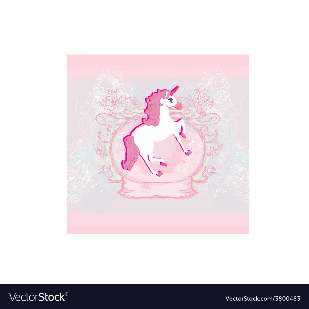 Beautiful pink unicorn vector | Price: 1 Credit (USD $1)