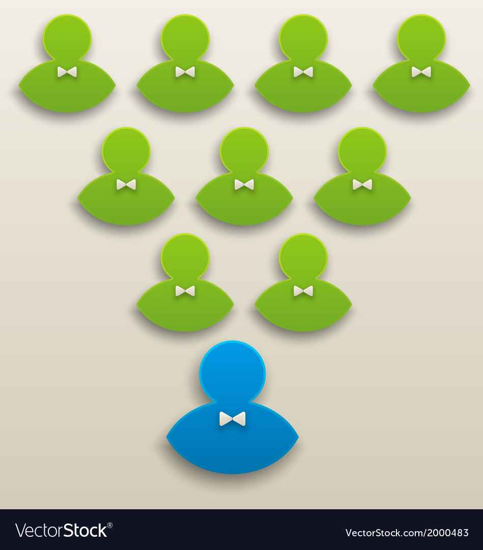 Concept of strong team leadership teamwork vector | Price: 1 Credit (USD $1)