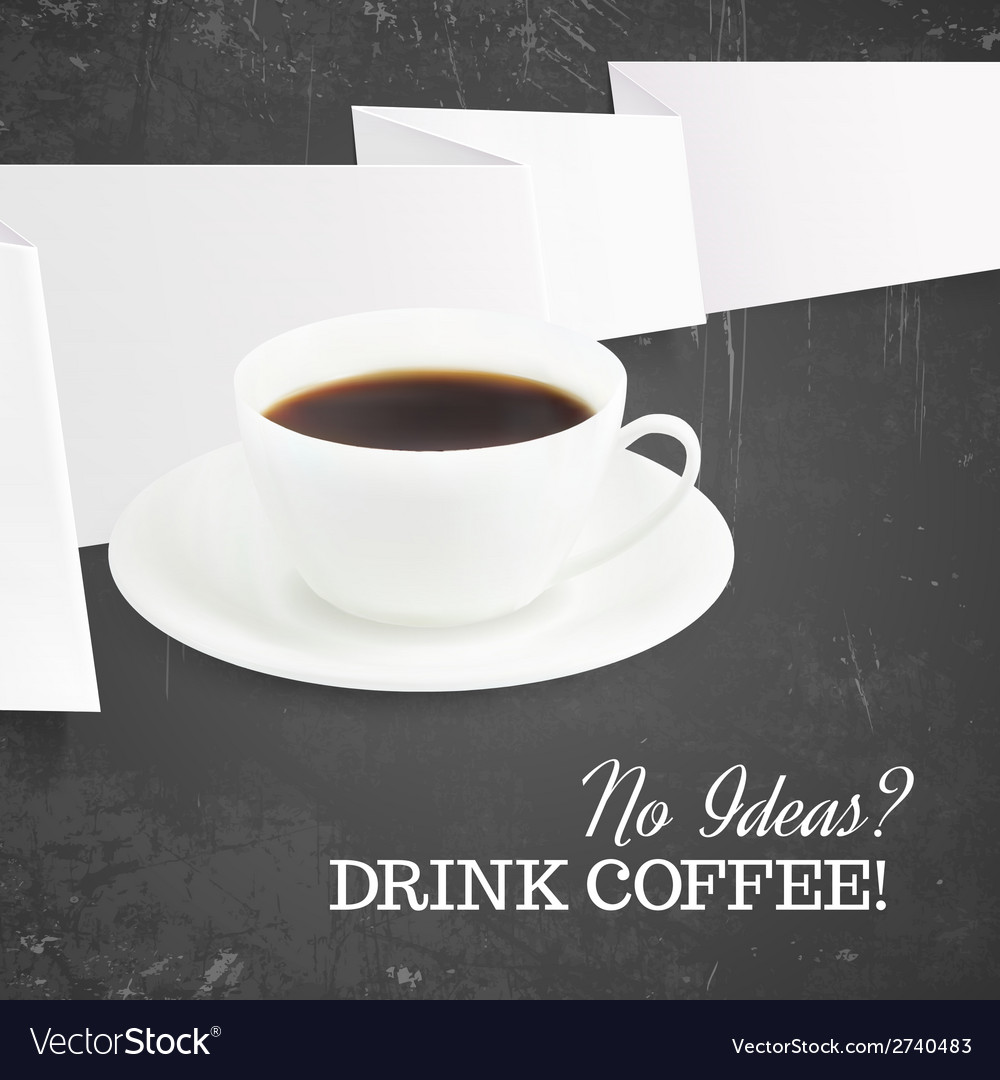 Cup of hot coffee vector | Price: 1 Credit (USD $1)