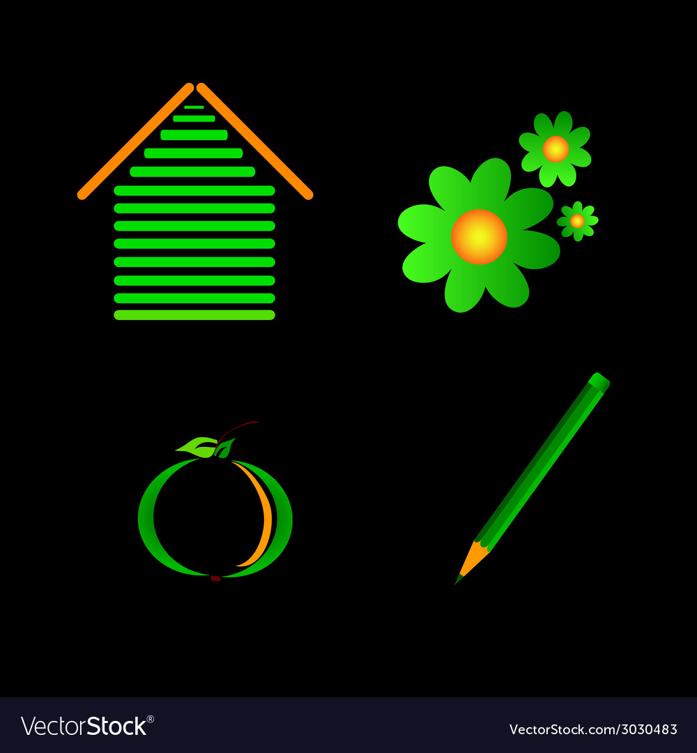Eco sign color vector | Price: 1 Credit (USD $1)
