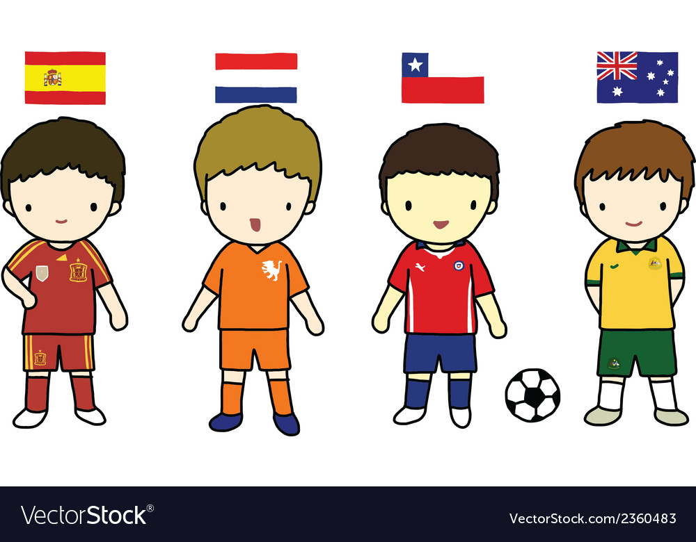 Fifa 2014 football players group b vector | Price: 1 Credit (USD $1)