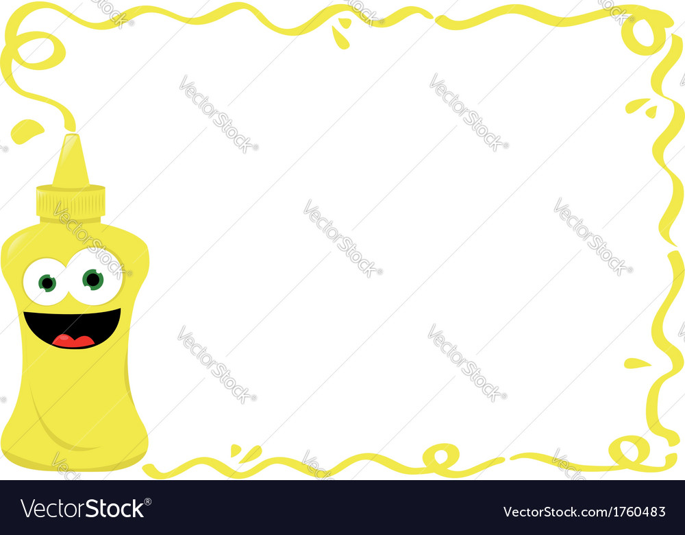 Funny mustard frame vector | Price: 1 Credit (USD $1)