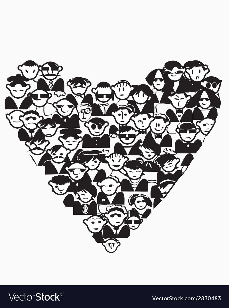 Heart people vector | Price: 1 Credit (USD $1)