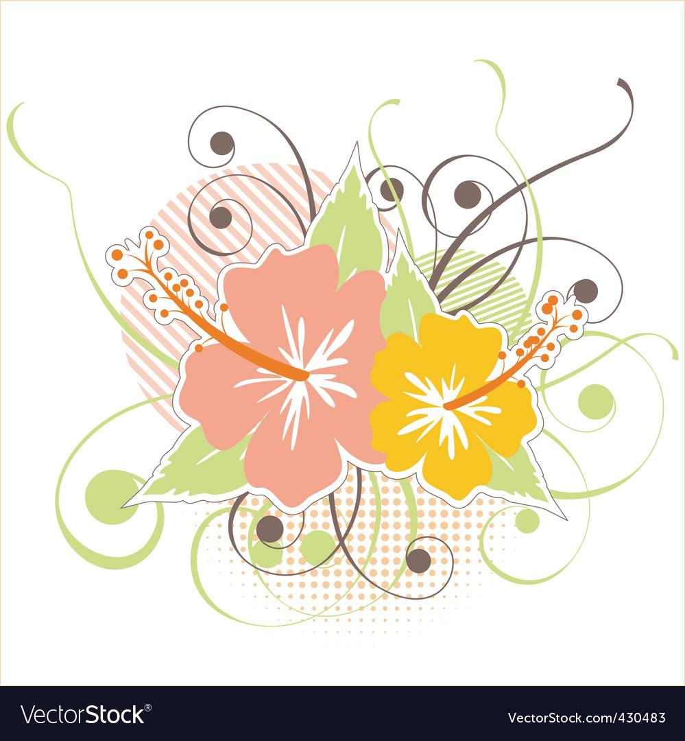 Hibiscus design vector | Price: 1 Credit (USD $1)