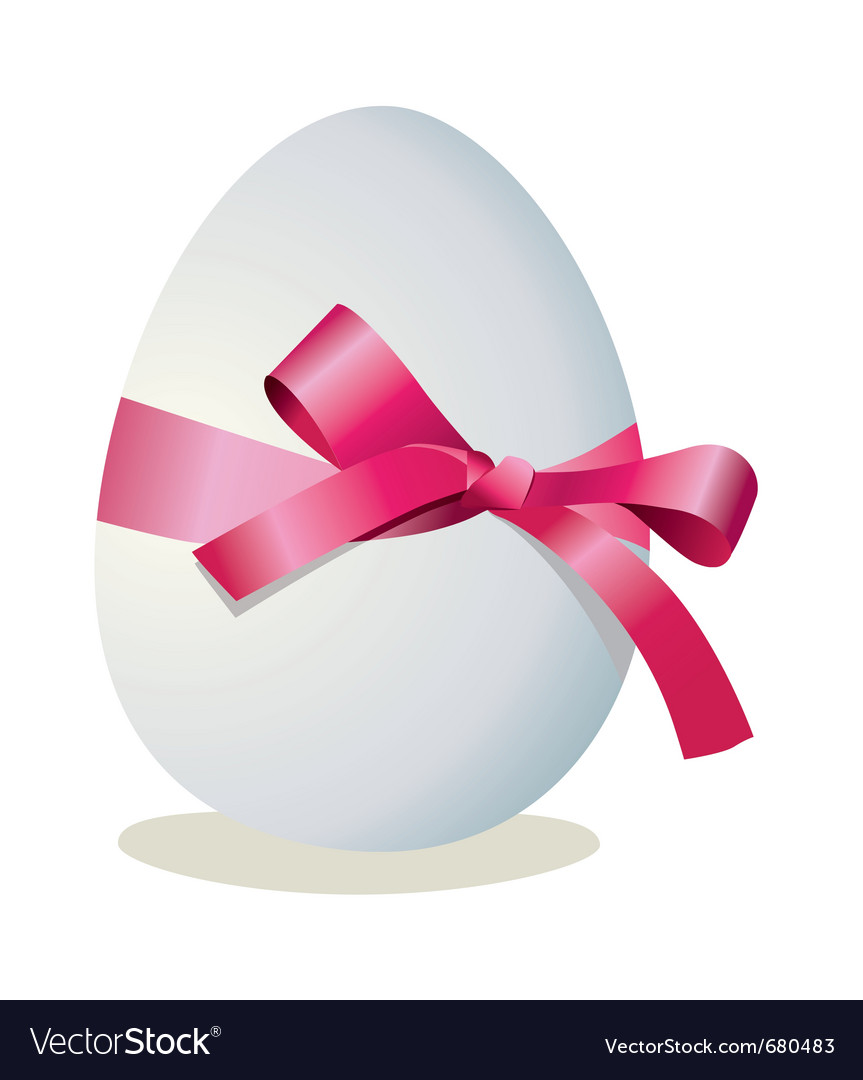 Ribbon egg vector | Price: 1 Credit (USD $1)