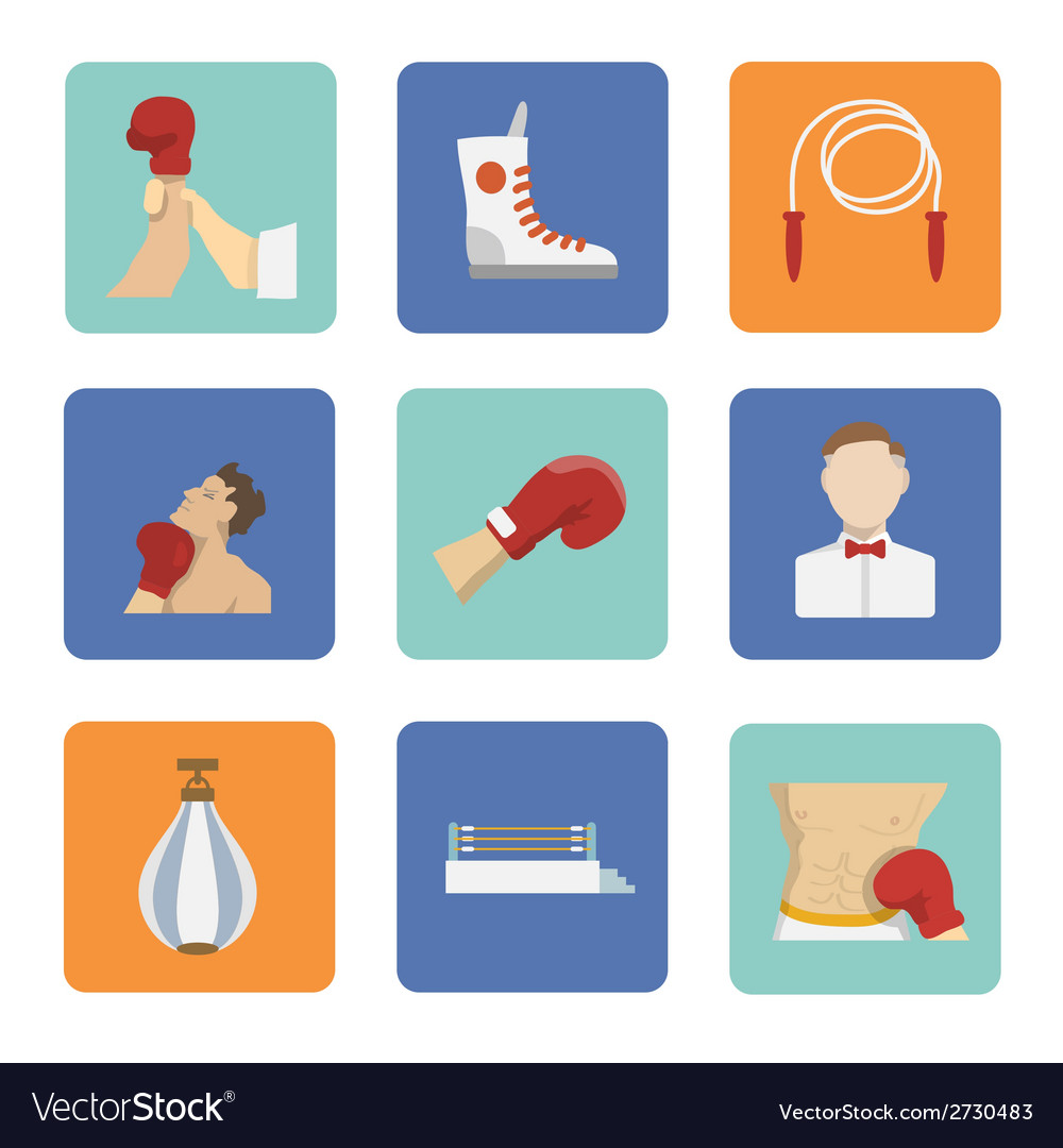Set of boxing icons vector   Price: 1 Credit (USD $1)