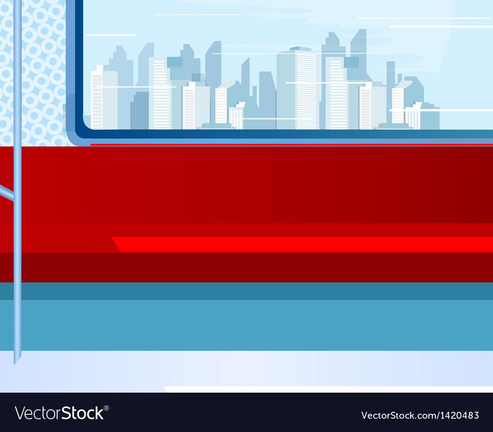 Skyline from train window vector | Price: 1 Credit (USD $1)