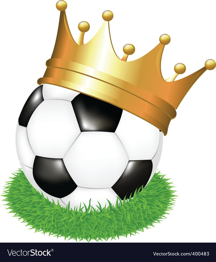 Soccer ball with crown vector | Price: 1 Credit (USD $1)
