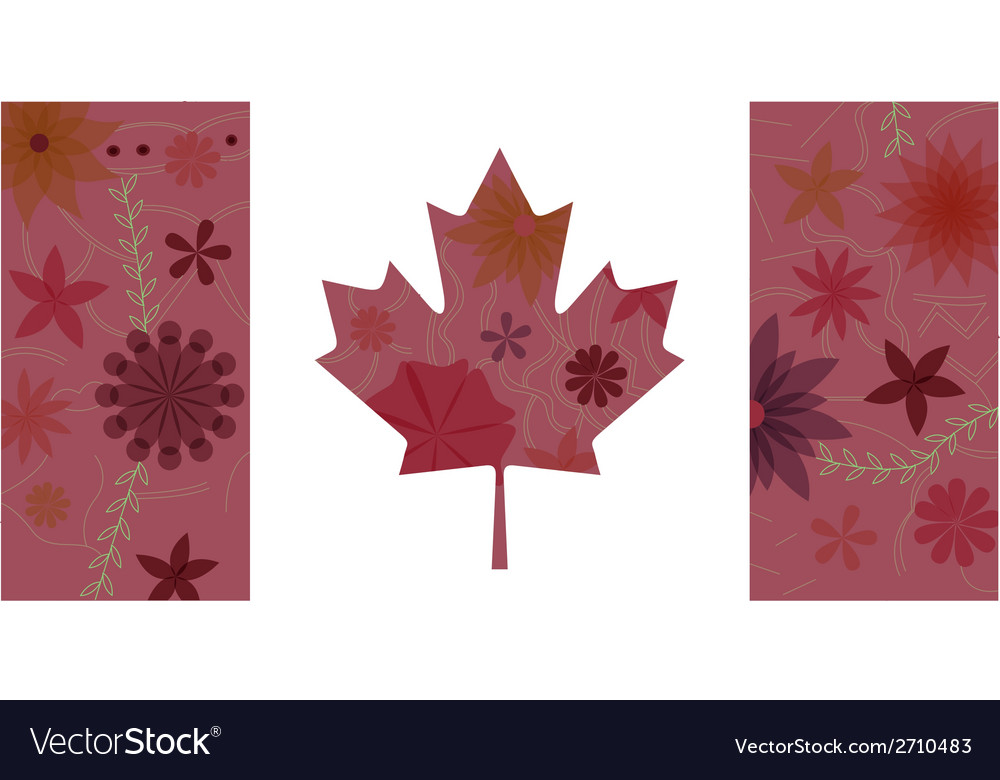 Vintage canada flag 3 vector | Price: 1 Credit (USD $1)