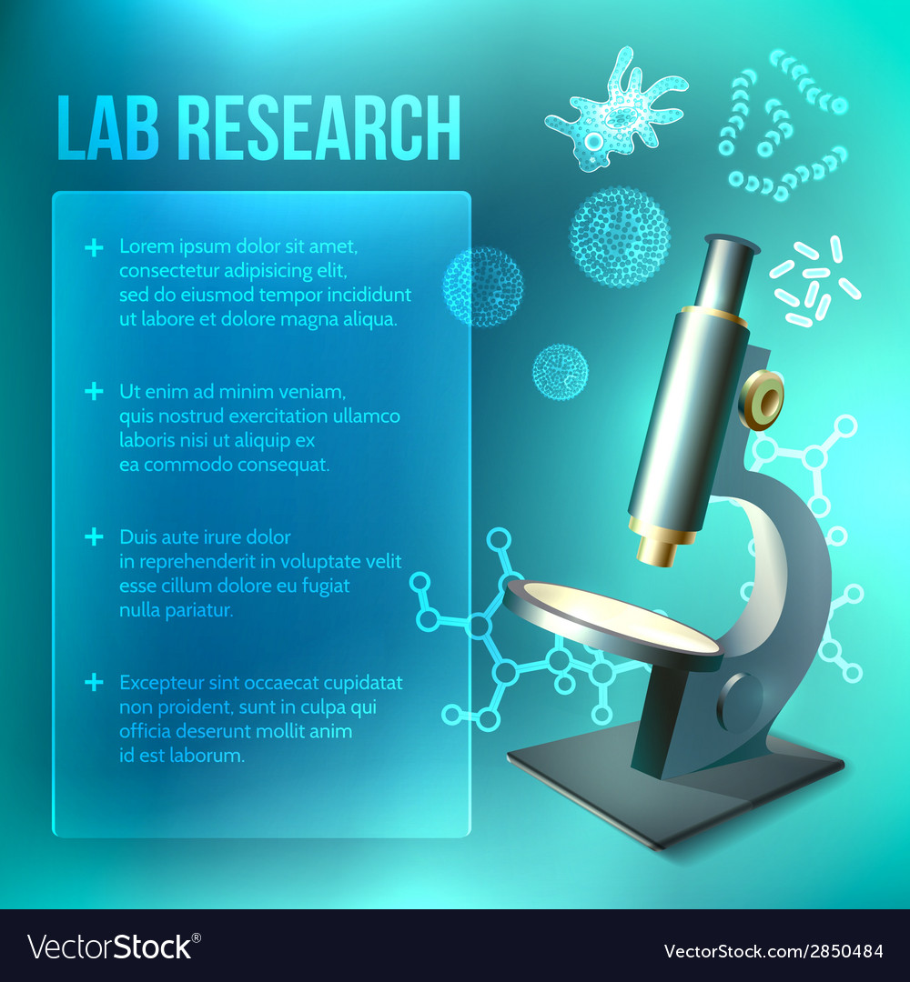 Bacteria and virus lab research vector | Price: 1 Credit (USD $1)