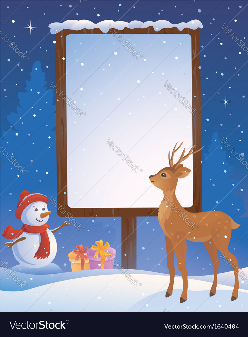 Christmas placard vertical vector | Price: 1 Credit (USD $1)