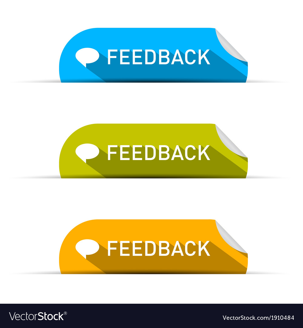 Feedback icons set isolated on white background vector | Price: 1 Credit (USD $1)