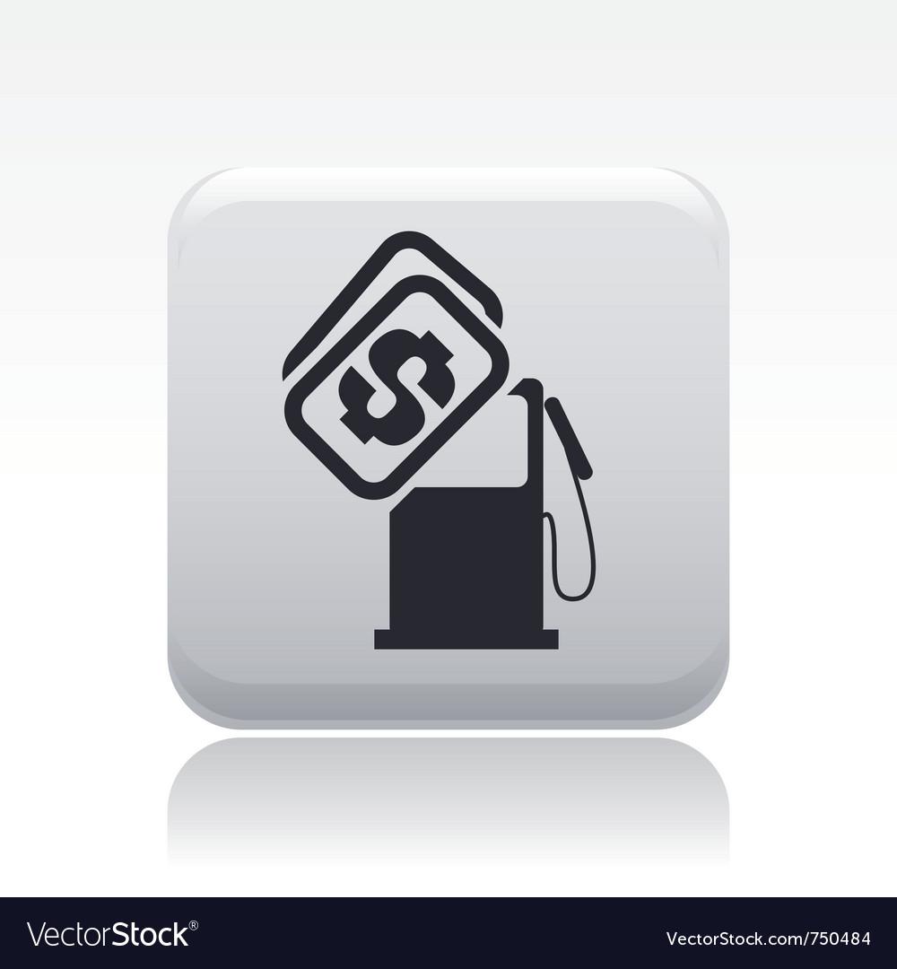 Gasoline price icon vector | Price: 1 Credit (USD $1)